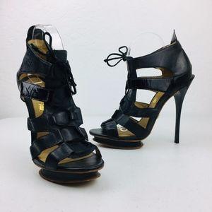LAMB Black Platform Stiletto High Heels